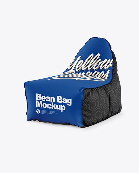 Metallic coffee bag mockup half side view in bag sack mockups. Bean Bag Mockup In Bag Sack Mockups On Yellow Images Object Mockups