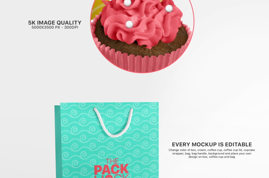 Download Cupcake Mockup Yellowimages