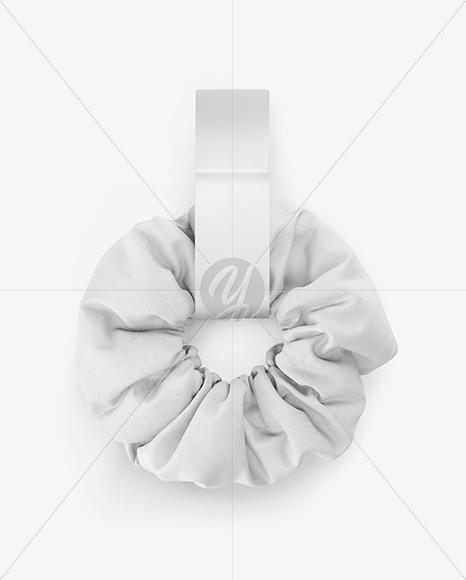 • changeable colors and design of scrunchie; Hair Scrunchie Mockup In Object Mockups On Yellow Images Object Mockups