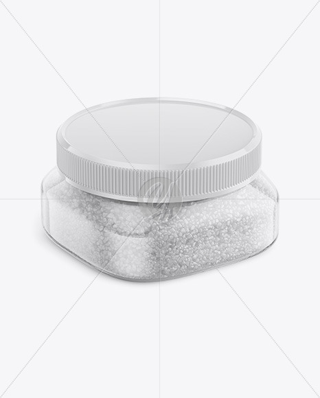 Download 100ml Glass Strawberry Jam Jar Clamp Lid Mockup Half Side View Yellow Images