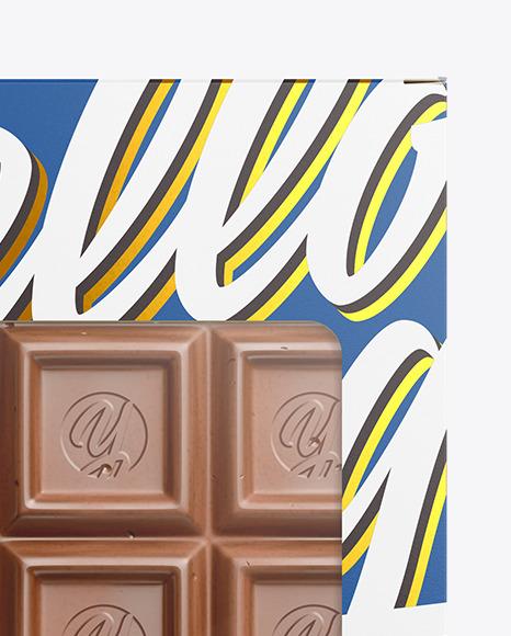 Download Kraft Glossy Chocolate Bar Psd Mockup Halfside View High Angle Shot Yellowimages