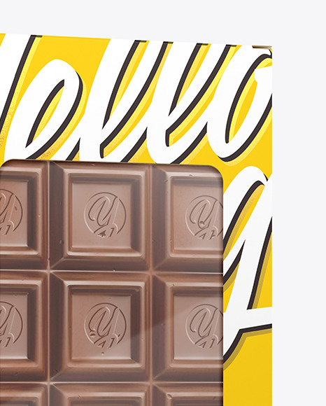 Download Glossy Chocolate Bar Psd Mockup Halfside View Yellowimages