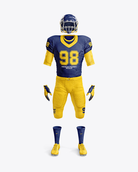 Download American Football Mockup - Front View in Apparel Mockups ...