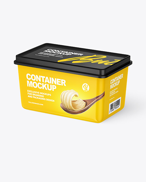 Download Plastic Container Cheese Psd Mockup Yellowimages