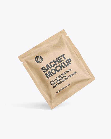 Download Kraft Box Matte Sachet Psd Mockup Yellowimages