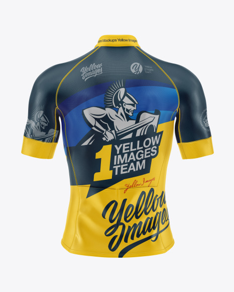Download Men's Cycling Jersey Mockup in Apparel Mockups on Yellow ...