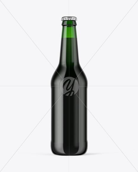 Download Black Beer Bottle Mockup Yellow Images