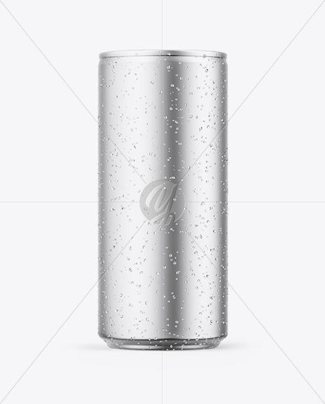 Download Matte Metallic Aluminium Can Psd Mockup Yellow Images