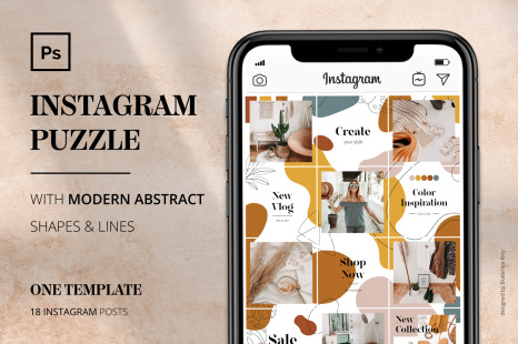 Download Template Instagram Mockup Yellowimages