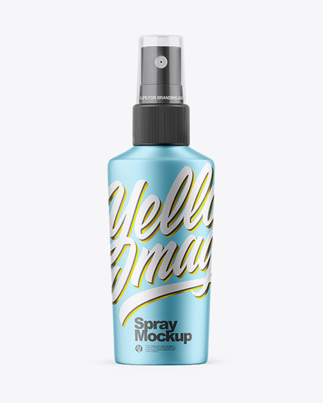 Download Blue Spray Bottle Psd Mockup Yellowimages
