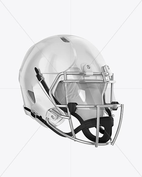 Download American Football Helmet Mockup Top Back Halfside View Yellow Images
