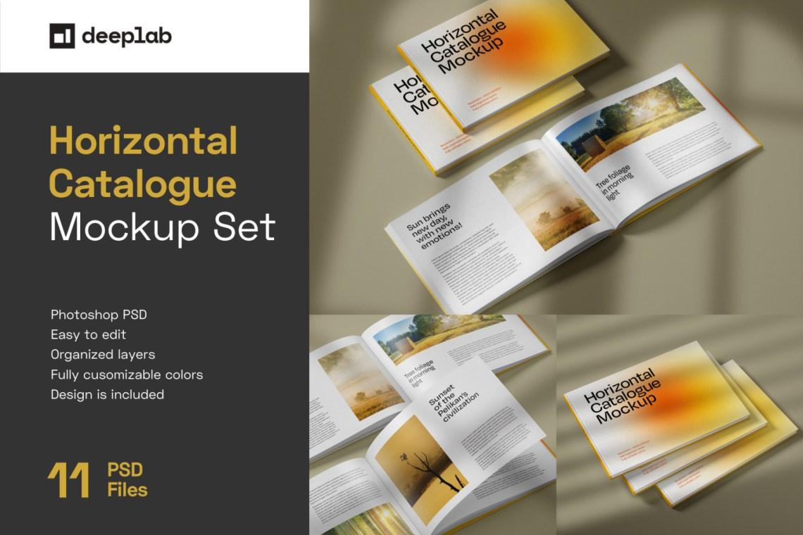 Download Square Brochure Mockup Free Yellow Images