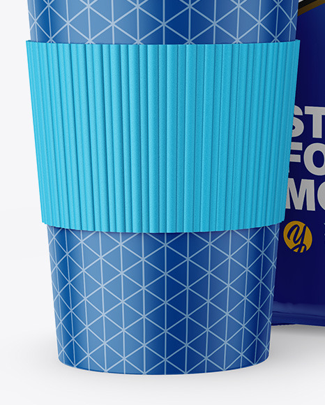 Download Glossy Pouch Coffee Cup Psd Mockup Yellowimages