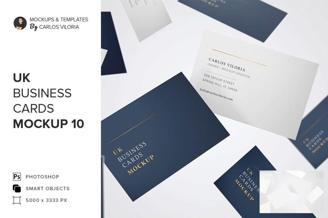 Download Business Card Mockup Template Photoshop Yellowimages