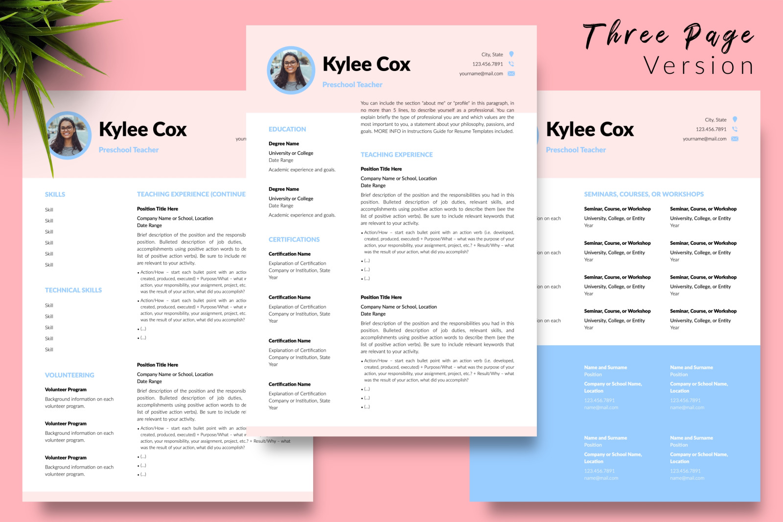 Teacher Resume Template For Microsoft Word Amp Apple Pages