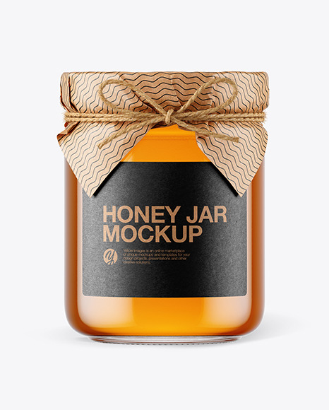Download Glass Jar Honey Psd Mockup Yellowimages