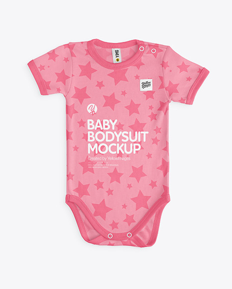 Download Baby Suit Mockup Front View Yellow Images