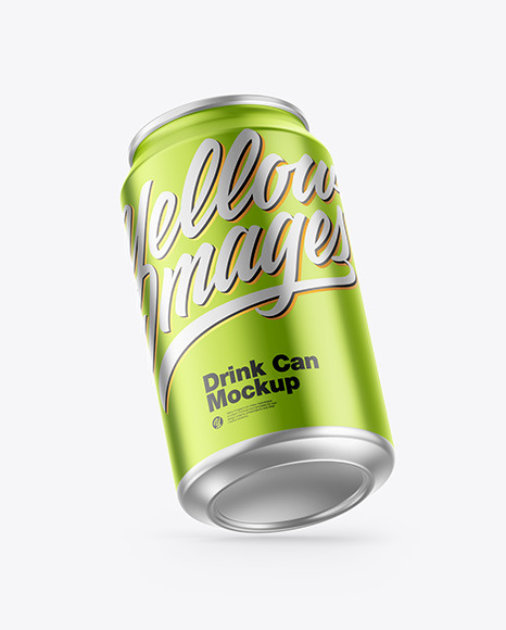 Download Matte Drink Can Psd Mockup Yellowimages