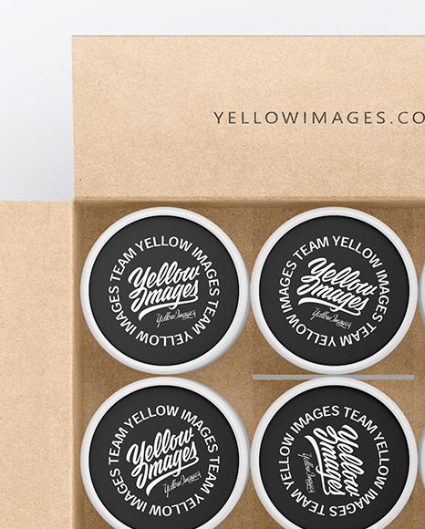Download Kraft Opened Tube Psd Mockup Yellowimages