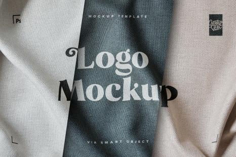 Download Fabric Print Effect Logo Mockup in Apparel Mockups on ...