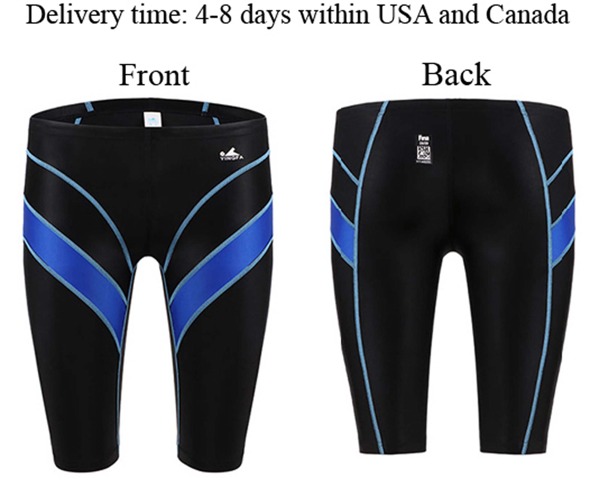 7f732f49af Men's racing & training swimming jammers FINA APPROVED swim trunks, Yingfa  9402-1 Black swim shorts