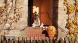 哈次山上的瓦爾肯里德~正值萬聖節一處私人住宅前的擺飾