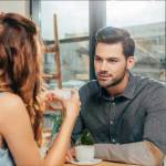 a woman dating a man trying to figure out his psychology