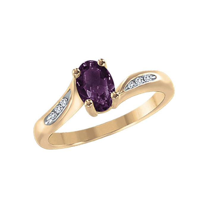 Ring With Amethyst Image