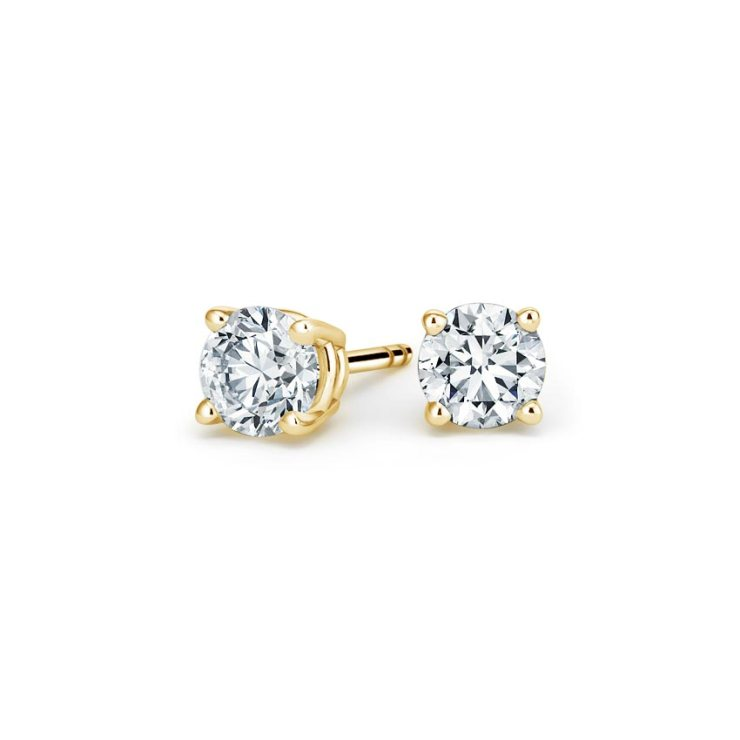 Yellow Gold Stud Earrings Image