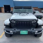 Jeep with Angry Eyes Grill