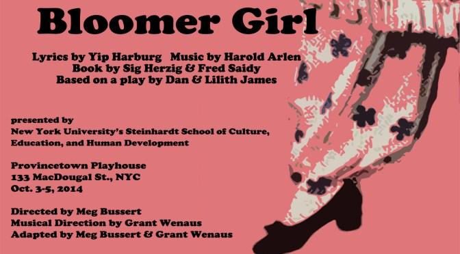 Bloomer Girl: Oct. 3-5, 2014