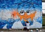 Mural del Papa Francisco en Los Hornos/ Fotografía: Walter Amori
