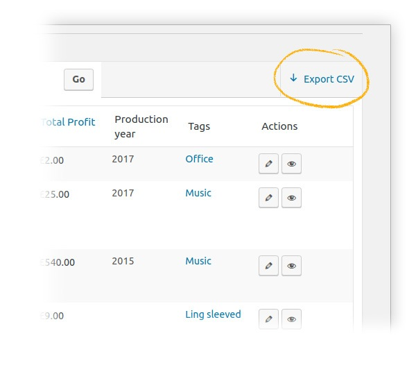Export csv