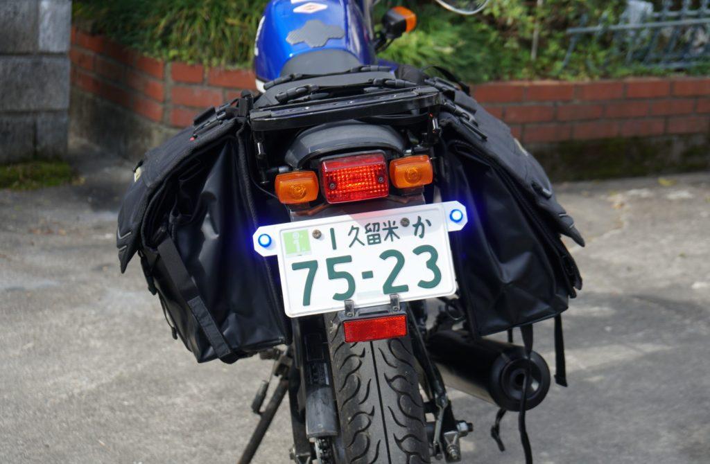 バイク ホンダFTR223 テールランプ デイライト 改造
