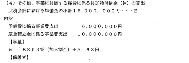 準備金名目で1600万円も計上