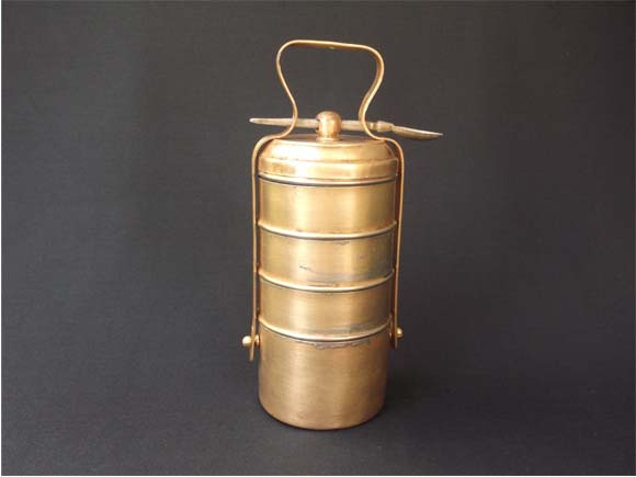 Image result for old brass tiffin