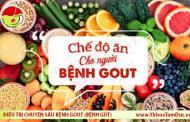 Chế độ dinh dưỡng cho người bệnh gút (bệnh gout)