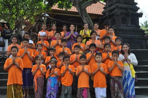 Volcano kids Hindu ceremony