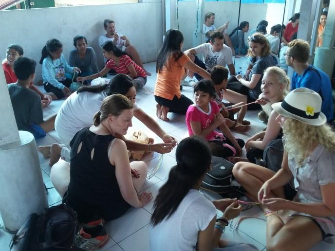 Fun activities from volunteers