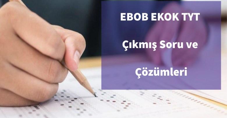 EBOB EKOK Çıkmış Soru Çözümleri