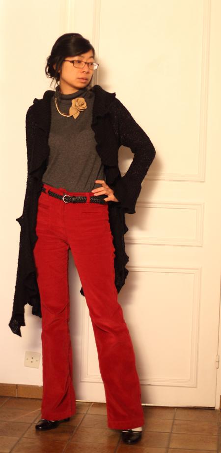 ~ Pantalon rouge Caroll ~