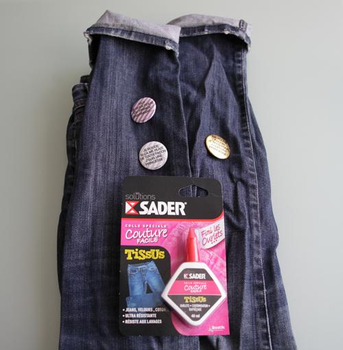 ~ DIY express pot à crayons avec un vieux jean et de la colle ! ~