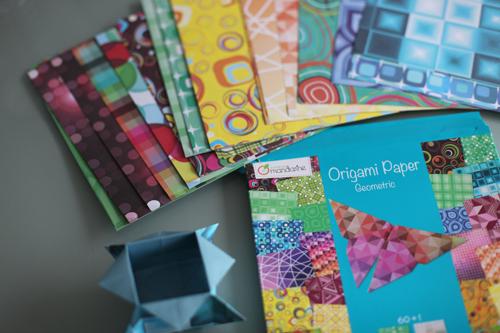~ Origamis avec les papiers «Avenue Mandarine» chez Creavea ~