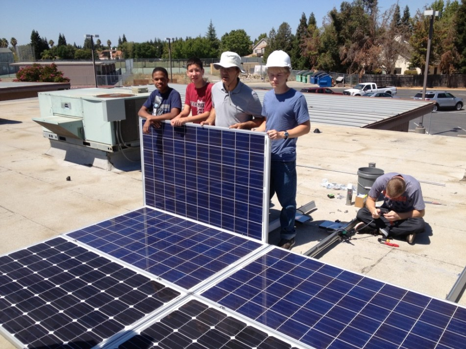 youth solar install PV