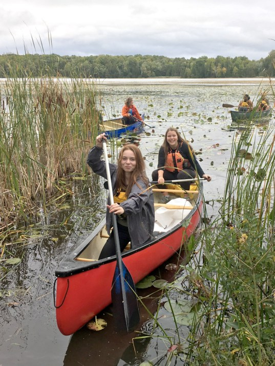 YLS wild rice harvesting at Curve Lake