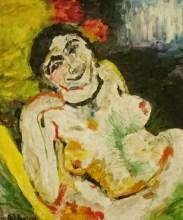 """Releitura de """"A Cigana"""", 2004. [Original por Henri Matisse 1906]."""