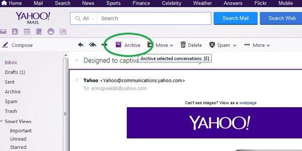 How To Save Important Messages In Yahoo Mail