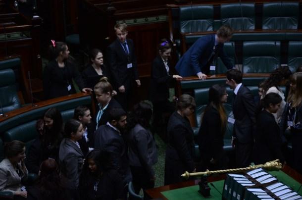 Division called in the Legislative Assembly. Photo - Finbar O'Mallon