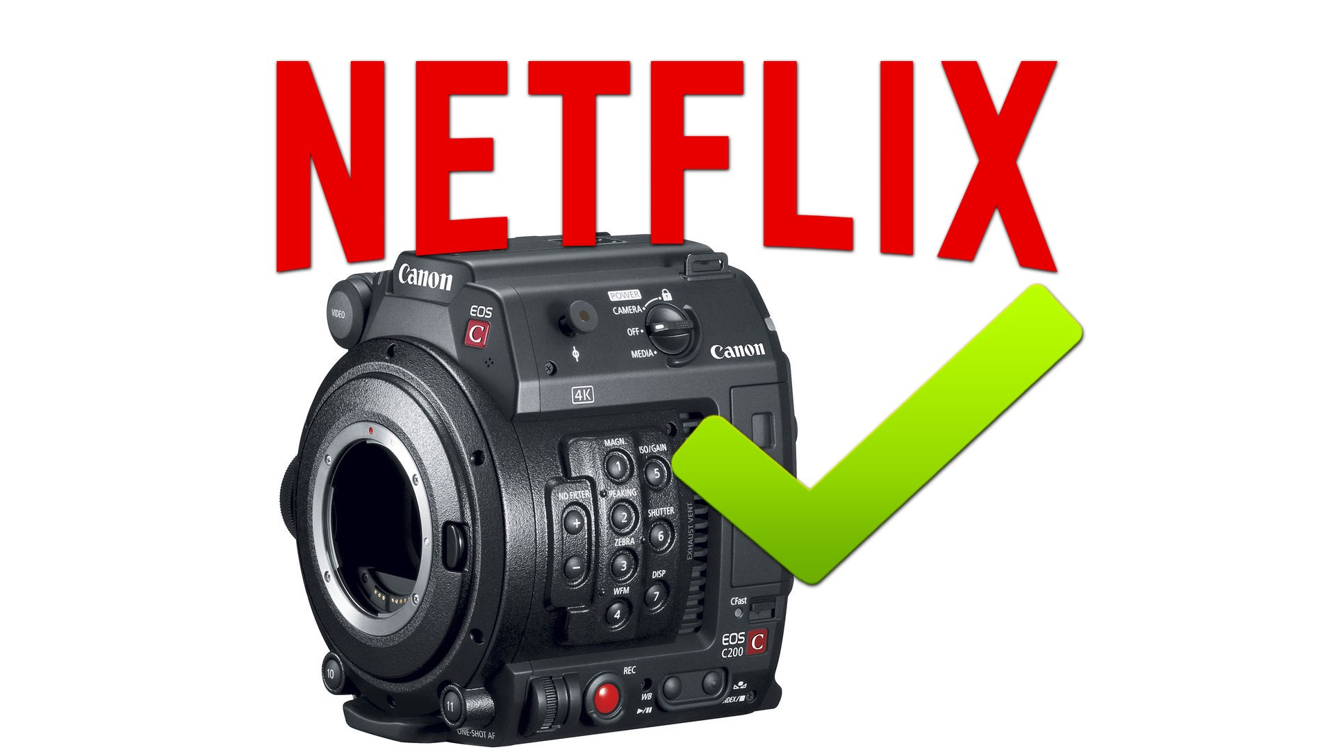 The Canon C200 can be Used on Netflix Productions (Under