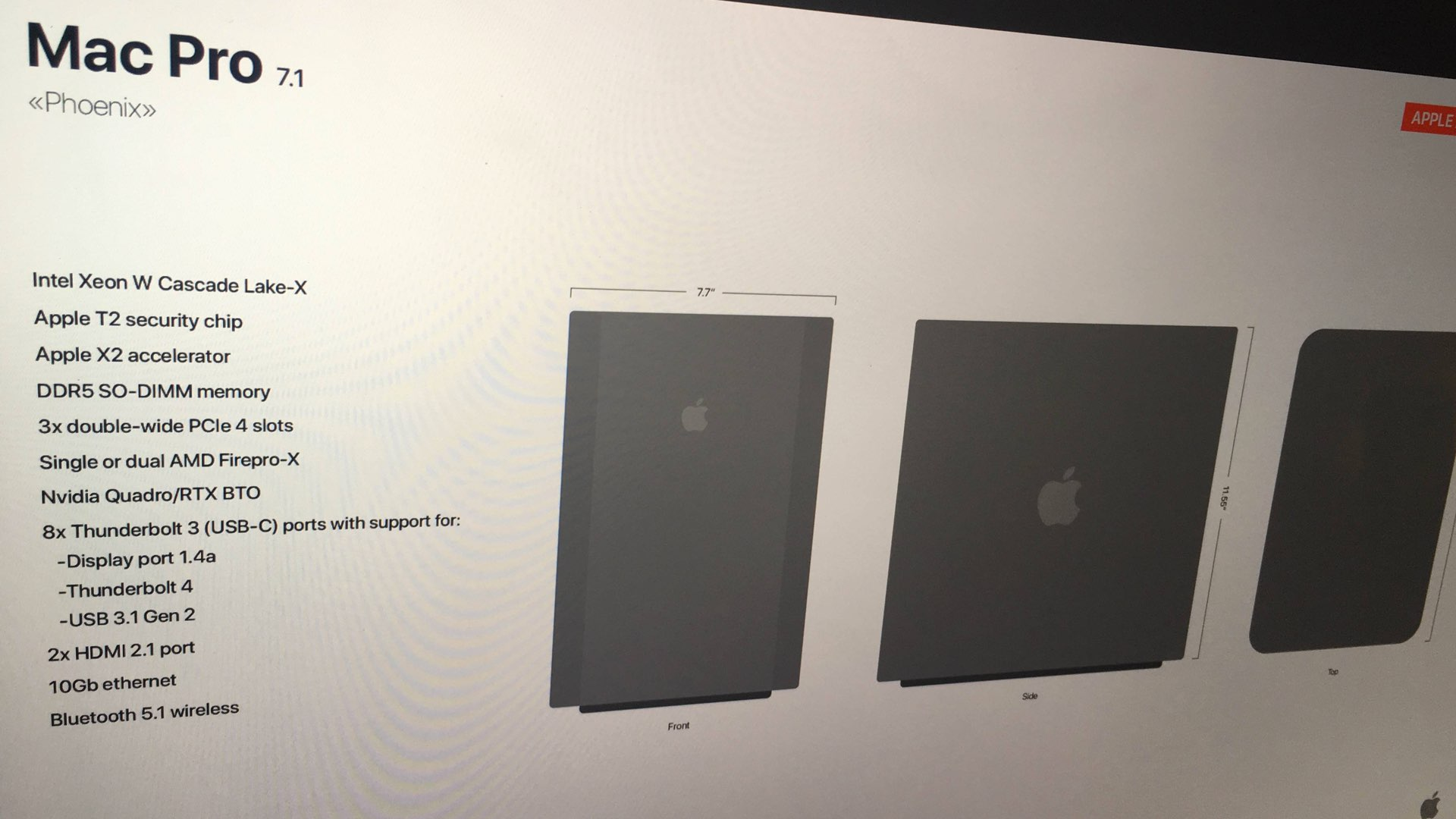 "Apple Mac Pro First ""Leak"" Shows New Design and Powerful"